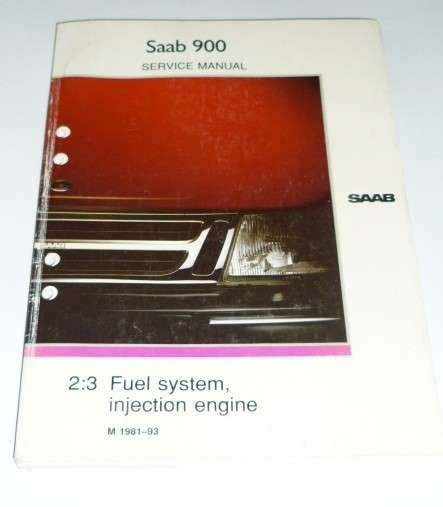 repair service manual for fuel injection system saab 900 classic in english saab spare