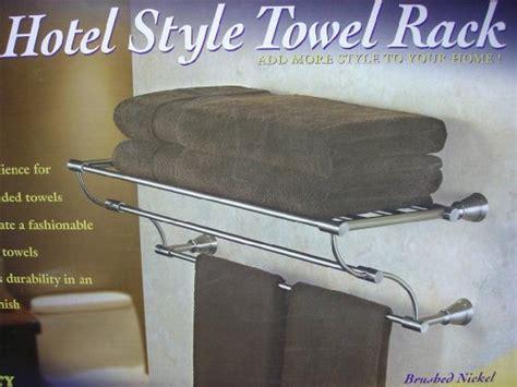 hotel style towel rack brushed nickel finish hotel style towel rack brushed nickel finish 019934084529 86 99
