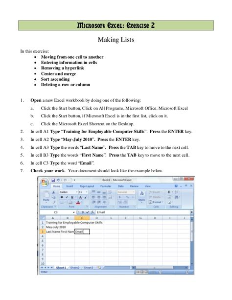 tutorial microsoft excel 2007 full excel 2007 training exercises all the best exercise in 2018