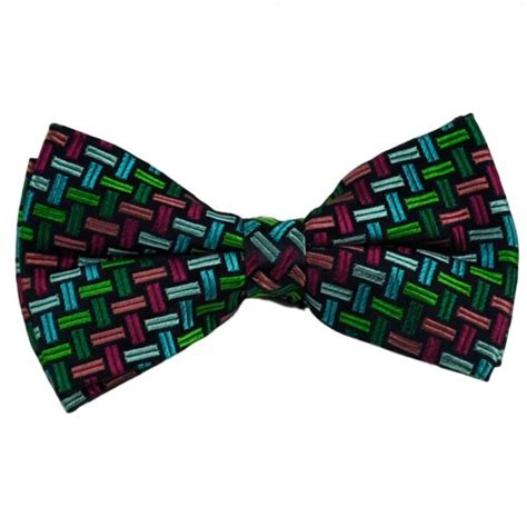 blue pattern bow tie navy blue with colourful pattern silk bow tie from ties