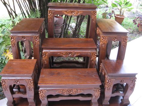 thai buddhist altar table set