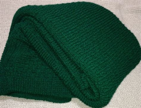 Green Blankets And Throws by Afghan Throw Blanket Knitted Forest Green