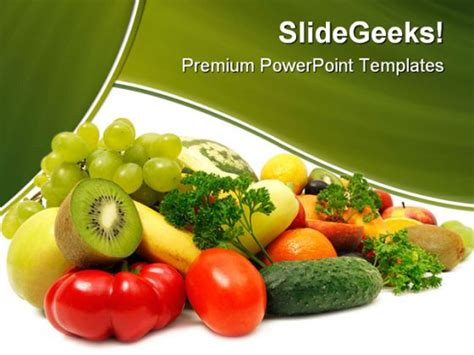 powerpoint themes fruit and vegetables fruits and vegetables food powerpoint backgrounds and