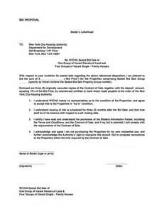 bid proposal sample free download