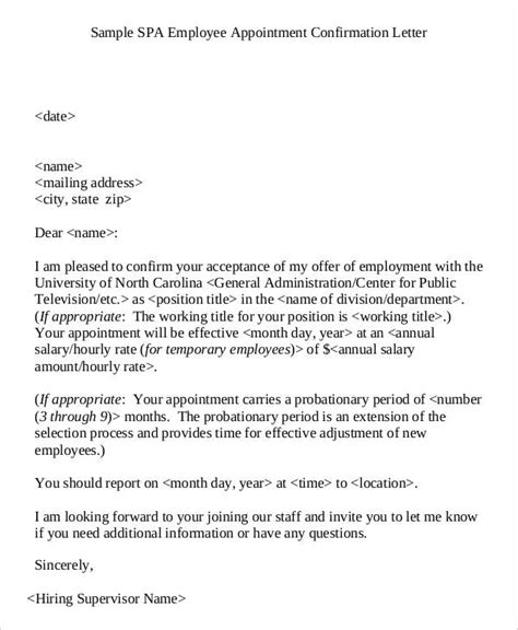 Official Joining Letter official appointment letter templates 8 free word pdf
