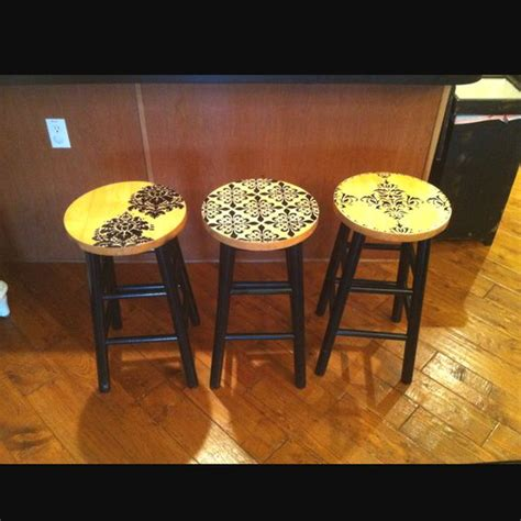 updated bar stools 1 can black spray paint for the legs