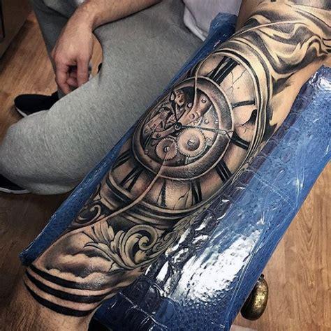roman numeral clock tattoo 90 filigree tattoos for ornamental ink design ideas