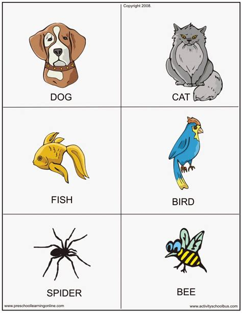 printable animals for toddlers cards for kids printable animal flashcards printable