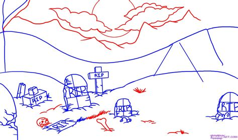 how to draw backgrounds draw a graveyard step by step drawing sheets added by