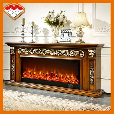 wooden frame for decorative electric fireplace tv stand