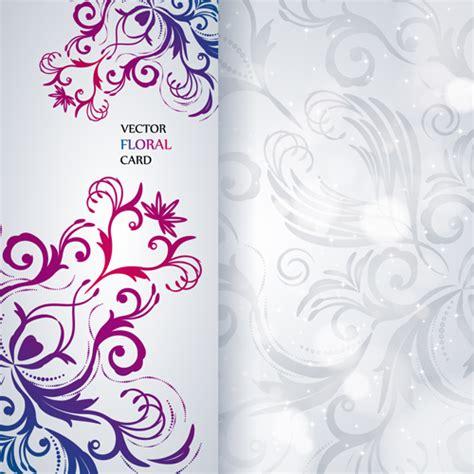 invitation card design in hd shiny floral invitations card design vector set 01 over