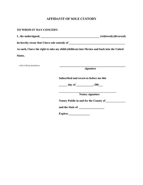 printable agreement sles best photos of sle letter giving temporary custody similiar