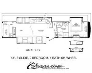 Continental coach 43 double bedroom floorplans