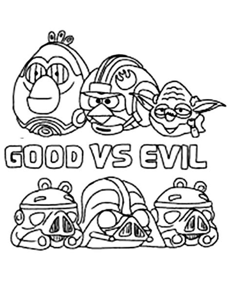 angry birds star wars coloring pages darth vader angry birds star wars the good vs the evil coloring pages