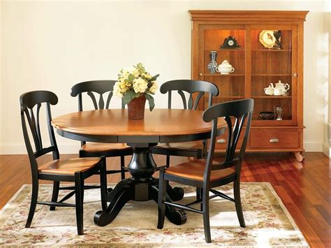 amish sonoma single pedestal dining room table