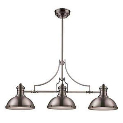 Landmark 3 Light Nautical Island Pendant Lighting Fixture Brushed Nickel Kitchen Light Fixtures