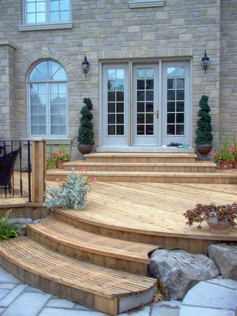 Patio Door Steps South Facing Deck Idea A Set Of Steps By The Sliding Patio Door Would Reduce The Steps Required
