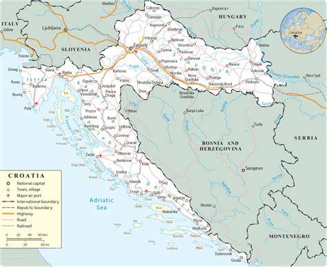 croatia map croatia travel maps online map