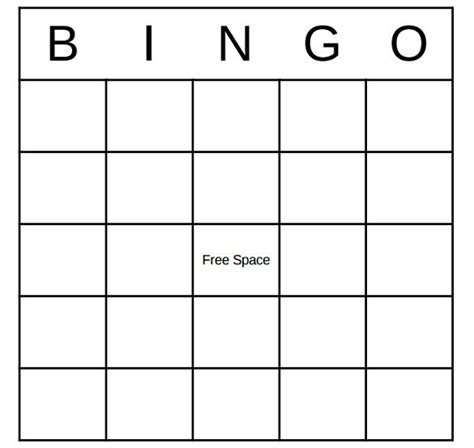 Bingo Card Template by Bingo Template Word City Espora Co Throughout Bingo