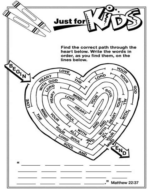 Coloring Page Matthew 22 by Matthew 22 37 Children S Church Faith