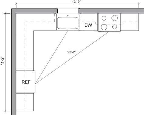 kitchen floor plans sle kitchen layouts