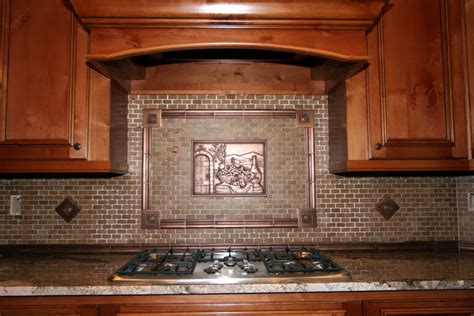Copper Backsplash Tiles For Kitchen Copper Backsplash Kitchen Backsplash Pictures