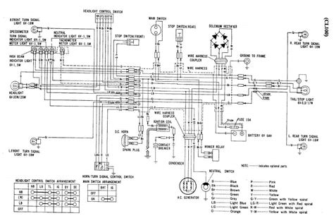 1974 honda sl 100 wiring diagrams wiring diagram schemes