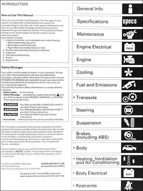free online auto service manuals 2000 honda odyssey lane departure warning 1999 2004 honda odyssey repair shop manual factory reprint