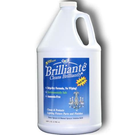 Chandelier Cleaner Spray Reviews Brilliante Chandelier Cleaner 1 Gallon Refill Environmentally Safe Ammonia Free Drip