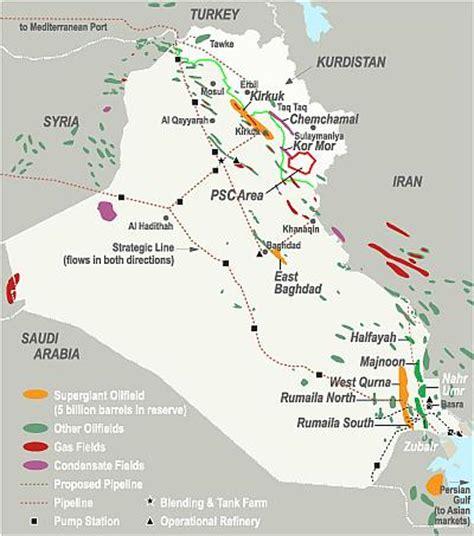 map of iraqi fields majnoon field
