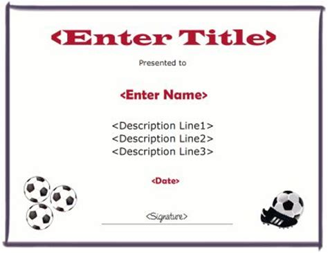 soccer certificate template free 31 best images about certificate templates on