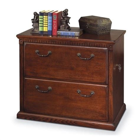 Huntington Oxford Lateral 2 Drawer File Cabinet In Distressed Wood File Cabinet
