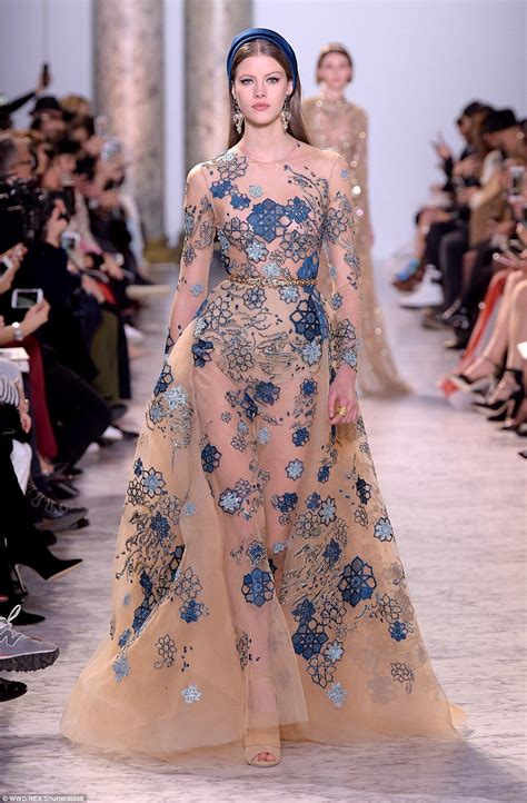 Couture Extravaganza by Elie Saab Wows With Fairytale Dresses At Haute