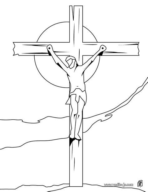 dibujos para colorear de la cruz especial de semana santa marzo 2017