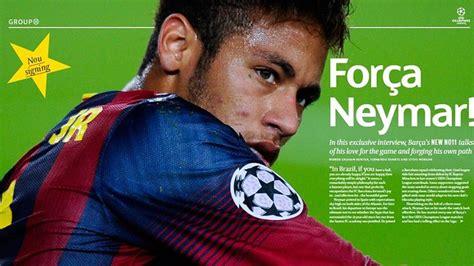 gambar neymar di majalah liga chions