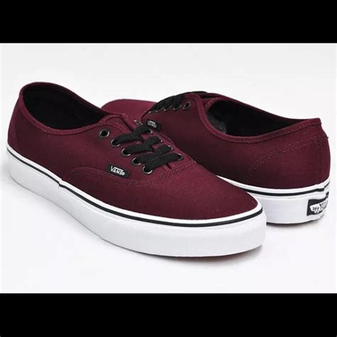 vans shoes womens maroon poshmark