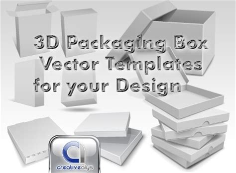 3d packaging box vector templates for your design free