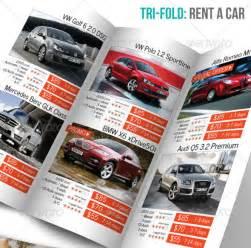 car rental brochure template sample templates