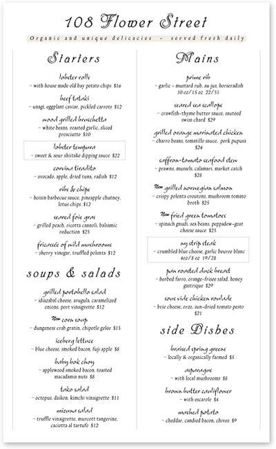 fancy restaurant menu template 6 fancy restaurant menu designs images fancy restaurant