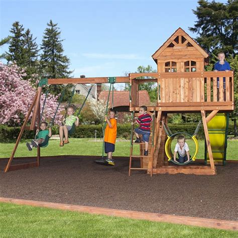 backyard discovery cedar view swing set backyard discovery cedar view totally swing sets