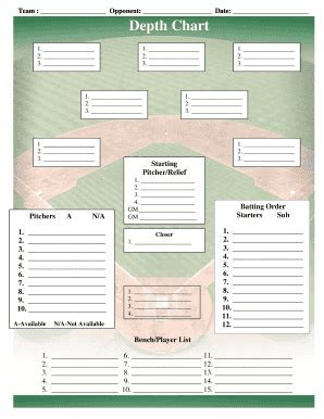 Softball batting order template fill softball batting order baseball field lineup templatepdffillercom fill online printable fillable blank pdffiller ccuart Images