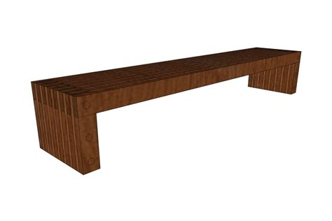 8 Foot Indoor Bench by Hudson Bench Outdoor Forms Surfaces