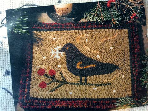traditional rug hooking snowfall by need l traditional hooked rug