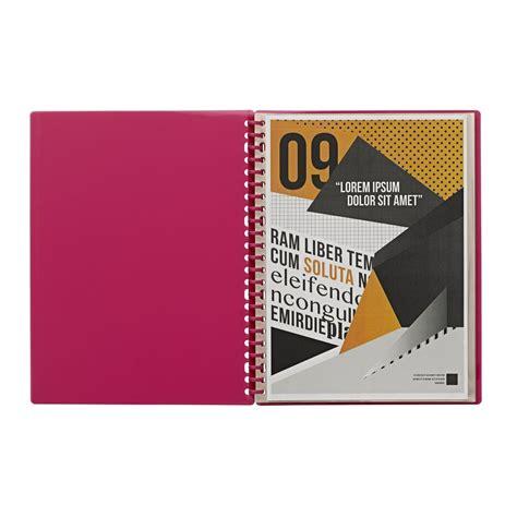 Display Book Garden 20 Sheet j burrows display book a4 20 pocket refillable pink officeworks