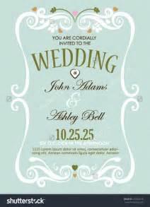 marriage invitation card design wedding invitation card design in vector with border 153504278 in marriage invitation design