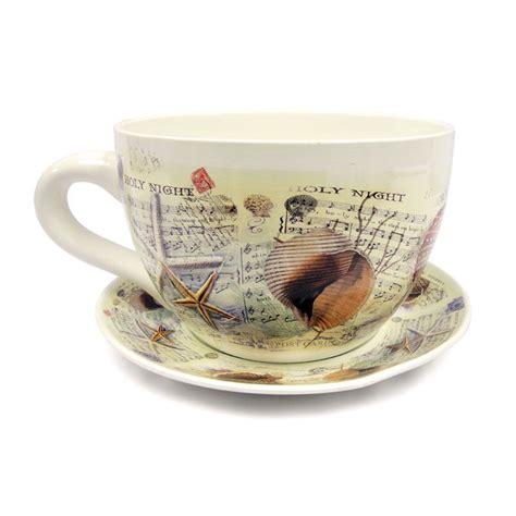 tea cup planter tea cup planter sea shell buy at qd stores