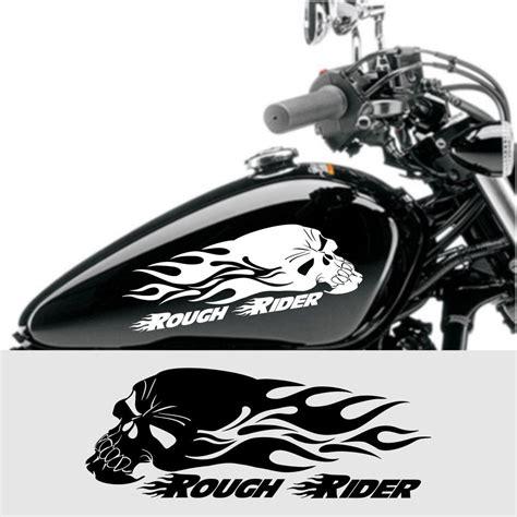 Tank Aufkleber Totenkopf by Details Zu Rider Aufkleber Skull Mit Flammen