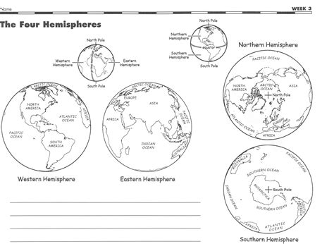 hemisphere worksheets worksheets releaseboard free