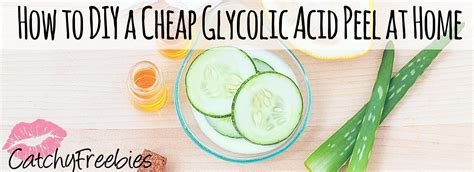 how to diy glycolic acid peel at home catchyfreebies
