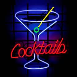 Cool cocktail neon sign